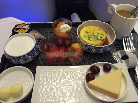 First class flight to Denmark and this was my dessert.