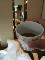 Instant coffee in my hotel room in Silkeborg, Denmark. It's still coffee!