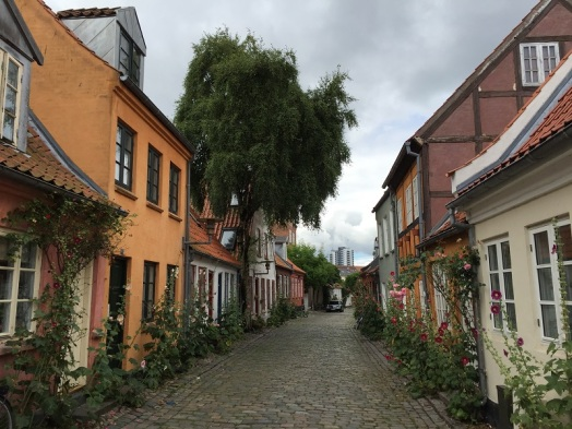A picture perfect street in Aarhus, Denmark