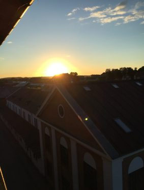 6am sunrise from my hotel room in Silkeborg, Denmark 2016.